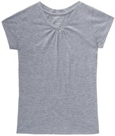 "French Toast Big Girls' ""Ruched V-Neck"" T-Shirt - , 10-12"