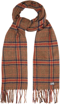 Ami Check virgin-wool scarf