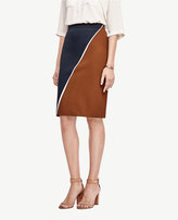 Ann Taylor Tall Colorblock Pencil Skirt