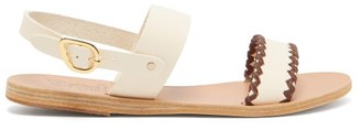 Ancient Greek Sandals Dinami Whipstitched Slingback Leather Sandals - Womens - White