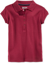 Nautica Girls' Uniform Picot-Trim Polo