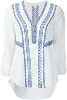 Veronica Beard embroidered V-neck blouse