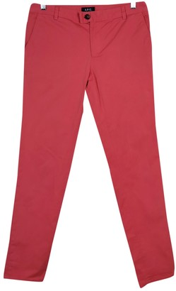 A.P.C. Pink Cotton Trousers for Women