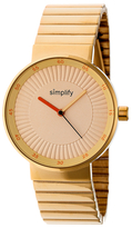 Simplify 4600 Gold Dial Watch, 39mm