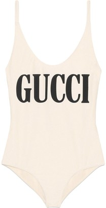 Gucci Sparkling swimsuit with print