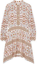 Tory Burch Celeste Printed Silk Mini Dress - Beige
