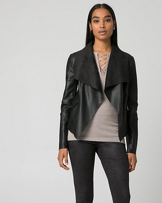 Le Château Faux Leather Open-Front Throwover