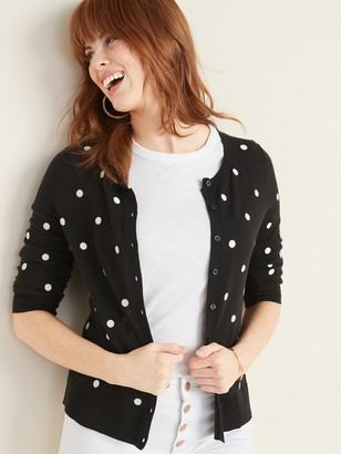 Old Navy Printed Crew-Neck Cardi for Women