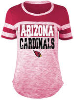 5th & Ocean Women's Arizona Cardinals Space Dye Foil T-Shirt