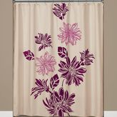Bed Bath & Beyond Flocked Floral Fabric Shower Curtain