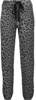 Current/Elliott The Varsity leopard-print cotton track pants