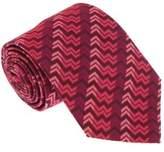 Missoni U5327 Pink/fuschia Chevron 100% Silk Tie.