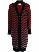 Thumbnail for your product : Salvatore Ferragamo Intarsia-Knit Cardi-Coat