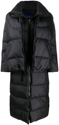 Sjyp Double-Layered Long Quilted Coat