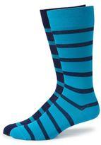 Marcoliani Striped Cotton-Blend Dress Socks