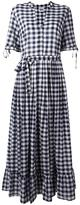 Twin-Set checked maxi dress - women - Cotton - M