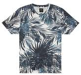 Burton Mens Grey Texture Plant Print T-Shirt