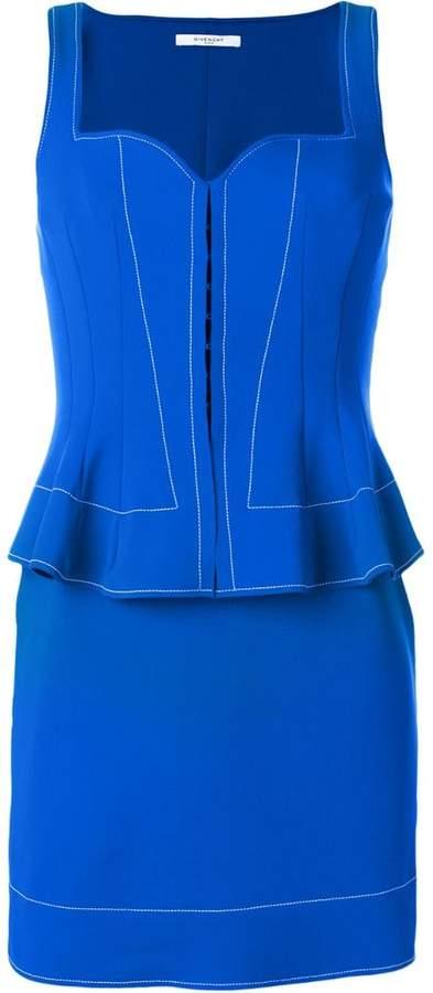 Givenchy peplum waist fitted dress