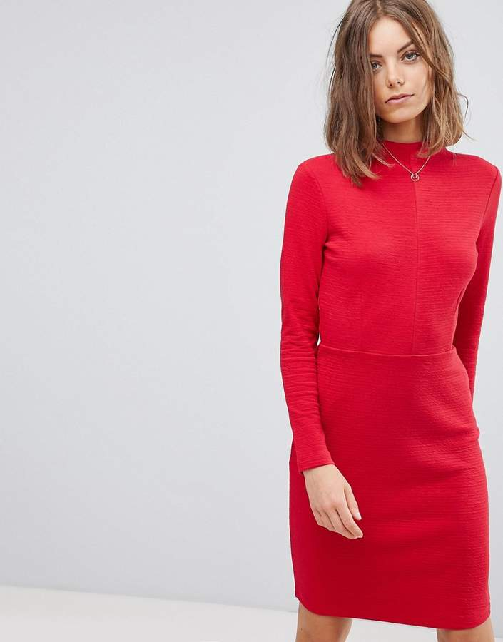 Esprit High Neck Fitted Dress