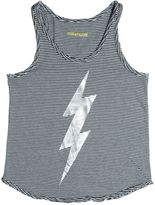 Zadig & Voltaire Lightning Bolt Cotton Jersey Tank Top
