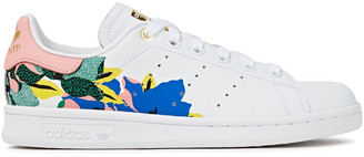 adidas Stan Smith Floral-print Leather Sneakers