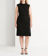 Lauren Ralph Lauren Plus Mockneck Sheath Dress