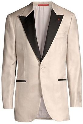 Isaia Contrast Lapel Silk Dinner Jacket