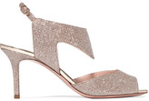 Nicholas Kirkwood Leda Textured-lamé Sandals - Gold