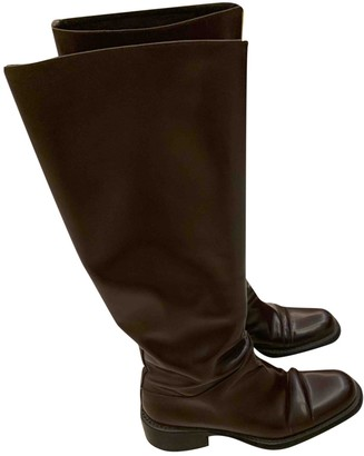 Prada Brown Patent leather Boots