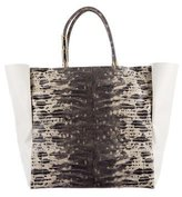 Lanvin Moon River Embossed Leather Tote