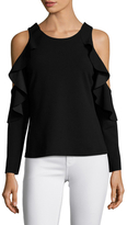 Tracy Reese Flounced Cut Out Top