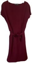 Balenciaga Burgundy Silk Dress
