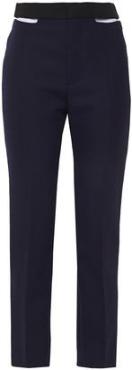 Haider Ackermann Cutout Grain De Poudre Wool Straight-leg Pants
