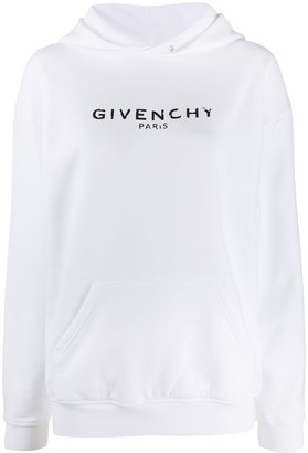Givenchy Vintage-Effect Logo Oversized Hoodie