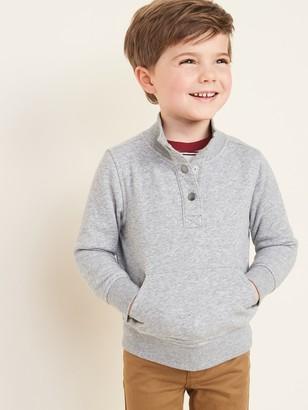 Old Navy Mock-Neck Snap-Front Sweatshirt for Toddler Boys