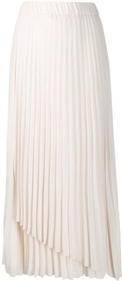 Peserico Pleated Pull-On Skirt