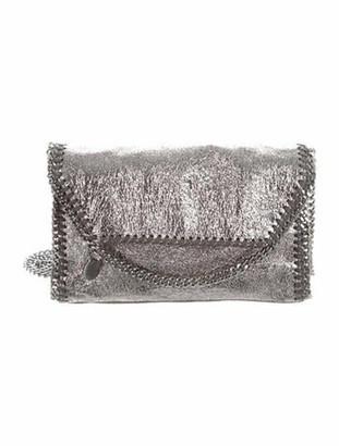 Stella McCartney Metallic Mini Falabella Shoulder Bag Grey