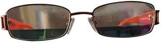 Fendi Orange Plastic Sunglasses