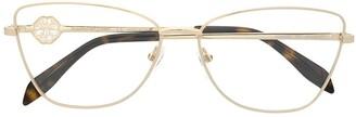 Alexander McQueen Eyewear Cat-Eye Frame Glasses