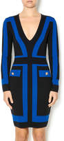 Endless Rose Blue Black Knit Dress