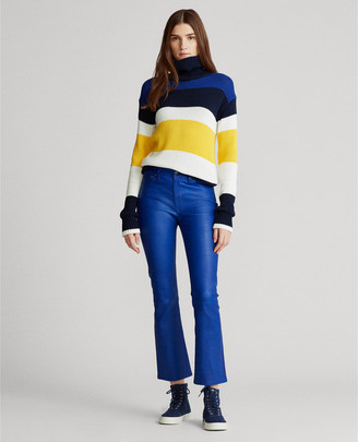 Ralph Lauren Leather Cropped Flare Pant