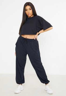Missguided Plus Size Black Oversized 90'S Joggers