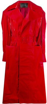 Thierry Mugler Belted Vinyl Trench Coat