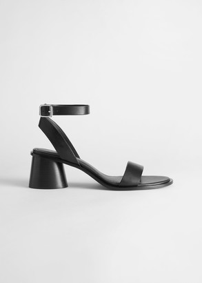 And other stories Strappy Block Heel Leather Sandal