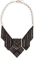 Deepa Gurnani Rhinestone Geometric Bib Necklace