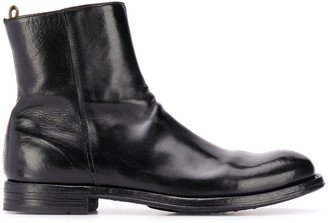 Officine Creative Polished Leather Ankle Boots