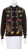 Hermes Silk-Paneled Wool Cardigan