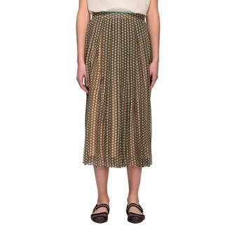 Fendi Karligraphy Print Chiffon Skirt