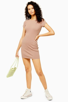 Topshop Womens Mauve Capped Tunic Dress - Mauve