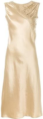 Maison Margiela textured satin shift dress